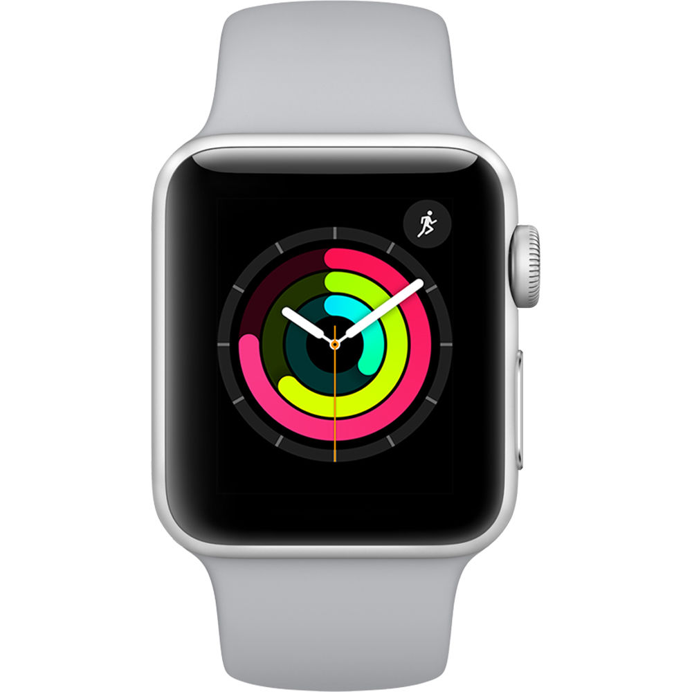 Apple Watch Series 3 (38mm) Aluminio en Plata y Correa Deportiva Gris Luminoso - MQKU2