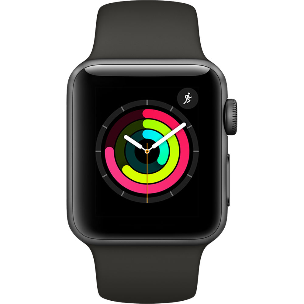 Apple Watch Series 3 (38mm) Aluminio en Gris Espacial y Correa Deportiva Gris - MR352